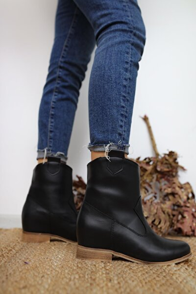 Kadın Siyah Londyn Gizli Topuk Bot