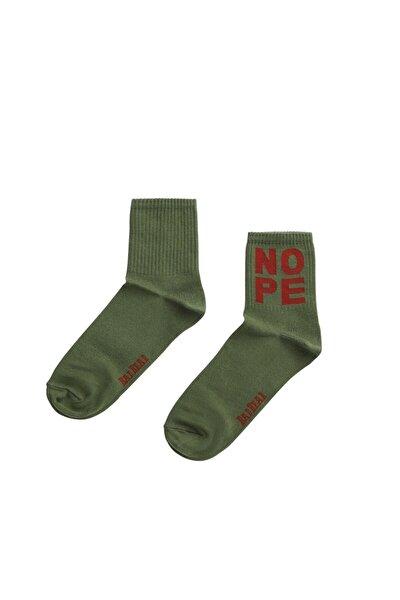 Nope Haki Uzun Çorap