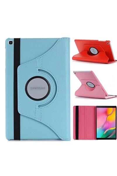 """Samsung Galaxy Tab A7 T500 T505 Kılıf 10.4"""" (2020) 360 Standlı Dönebilen Tablet Kılıfı Açık Mavi"""