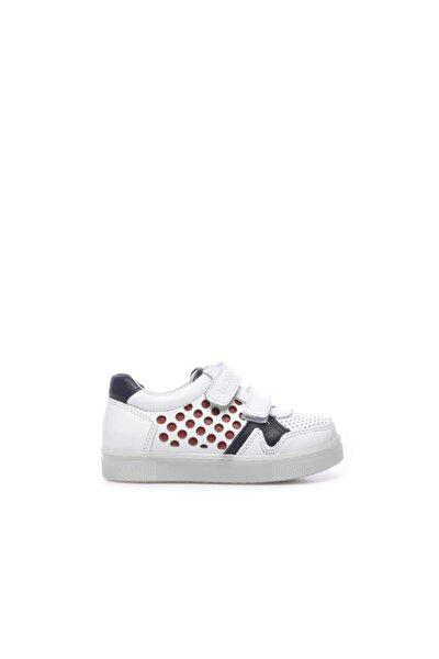 Unisex Çocuk Beyaz Deri Ayakkabı 632 1801 Cck Ayk 21-30
