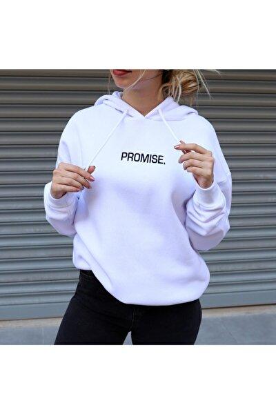 Promise Sırt Baskılı Oversize Swetshirt