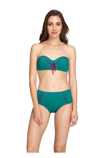 Yeşil Straplez Bikini Takımı