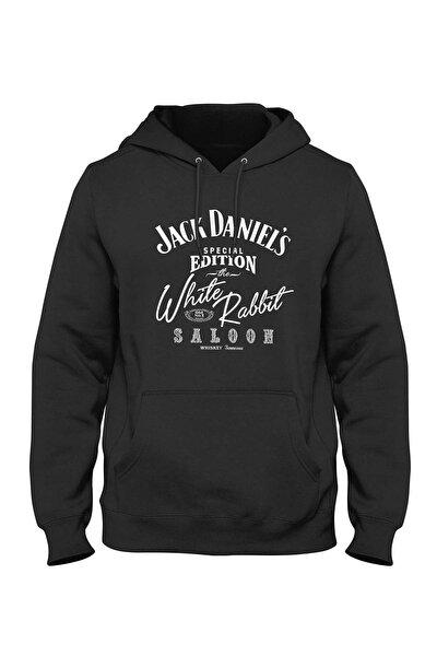 Jack Daniels White Rabbit Hoodie Kapişonlu Sweatshirt