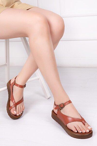 Hakiki Deri Taba Kadın Deri Sandalet Dp-1081