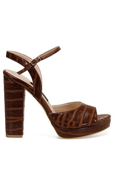 CENDO Kahverengi Kadın Topuklu Sandalet 100526405