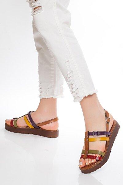 Hakiki Deri Multi-1 Kadın Deri Sandalet Rma-3111