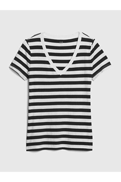 Vintage Çizgili T-shirt