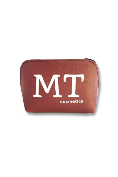 Mt Mat Deri Makyaj Çantası Bordo