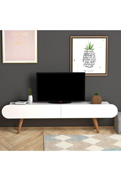 Lotus Tv Sehpası Beyaz