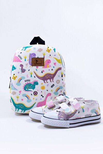 Dino Çocuk Ayakkabı & Çanta Takımı