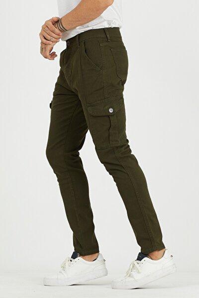 Erkek Haki Kargo Cep Pantolon