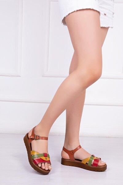 Hakiki Deri Multi-1 Kadın Deri Sandalet Dp-1014