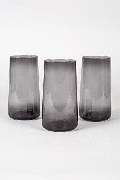 Shadow 3'lü Meşrubat Bardağı Seti Füme 540 Cc