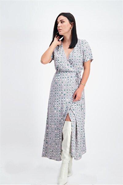Desenli Anvelop Elbise