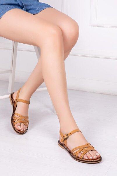Hakiki Deri Taba Kadın Deri Sandalet Dp28-0830