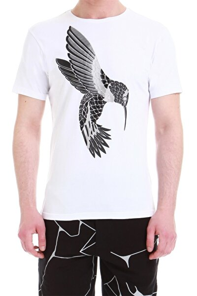 Ts 744 Slim Fit Beyaz Spor T-shirt