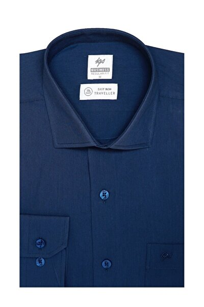 Erkek Petrol Regularfıt / Rahat Kalıp 7 Cm Klasik Gömlek