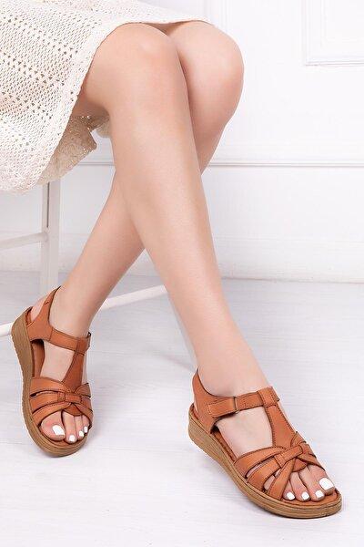 Hakiki Deri Taba Kadın Deri Sandalet Dp41-6010