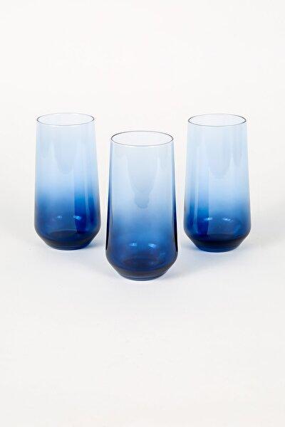New Iconic 3'lü Meşrubat Bardağı Seti Mavi 470 Cc