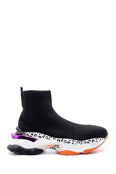 Kadın Kalın Renkli Tabanlı Çorap Bot