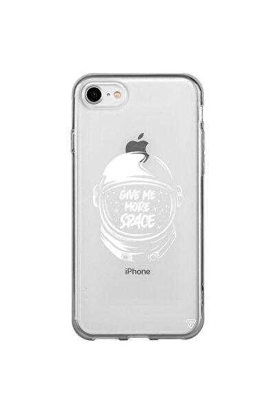 Iphone 7 Şeffaf Silikon Give Me More Space Telefon Kılıfı