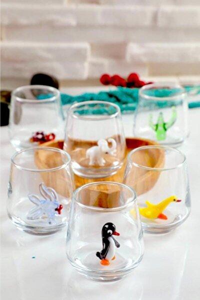 Kahve Yanı Bardağı Karışık Hayvan Figürleri