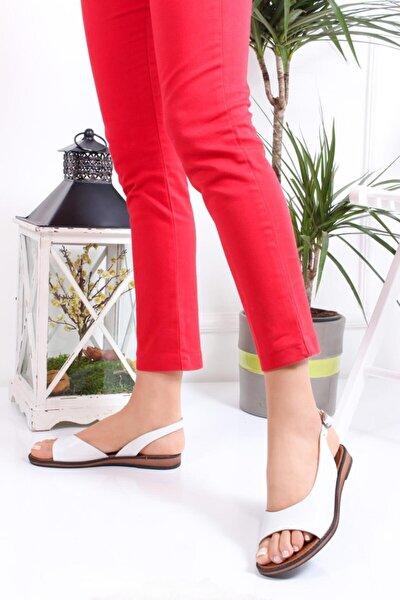 Hakiki Deri Kadın Deri Sandalet Dp-0076