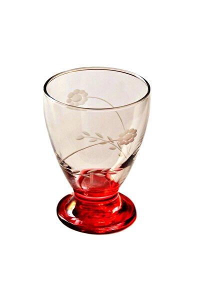 41011 Çın Çın 12 Adet (Kırmızı Papatya) Su-meşrubat Bardağı