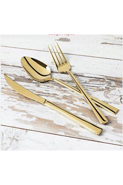 Fırat Fırat Titanyum Gold Gold Tatlı Kaşığı 6 Adet Pırlanta