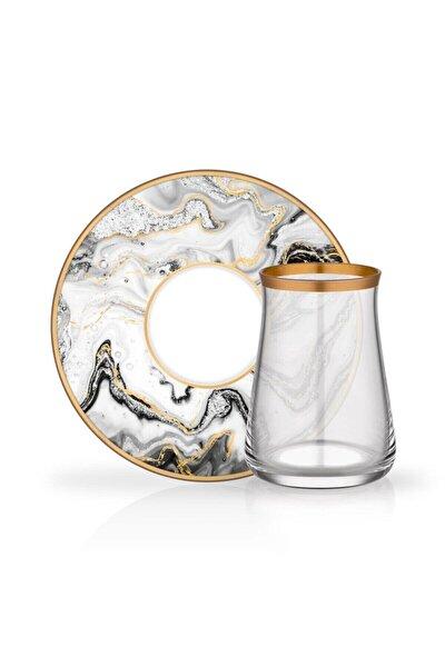 Tarabya 6 Lı Çay Seti Marble 35231