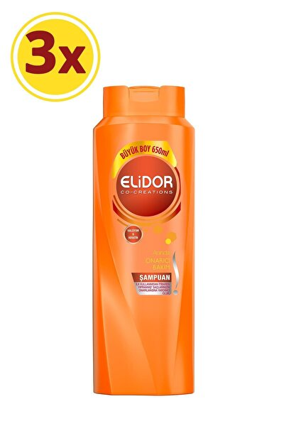 Anında Onarıcı Bakım Saç Bakım Şampuanı 650 ml X3