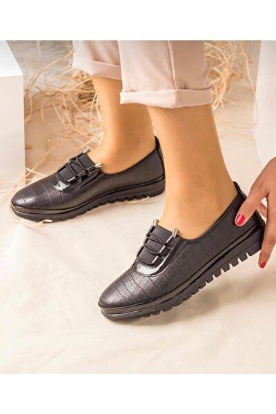 Kadın Siyah Babet Ayakkabı
