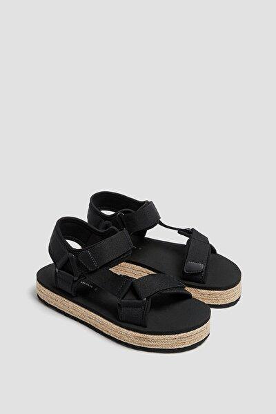Kadın  Jüt Detaylı Bantlı Sandalet