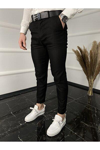 Italyan Kesim Petek Desen Keten Pantolon