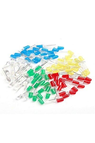 50 Adet 5 Mm Led (5 Farklı Renkte)