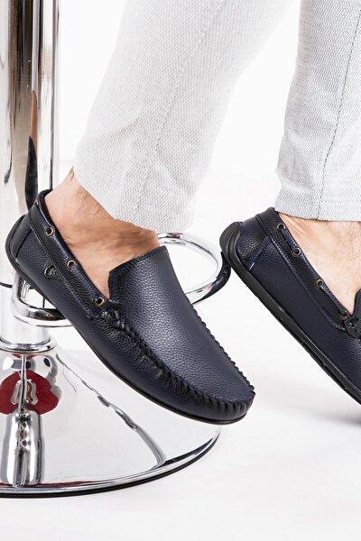 Erkek Lacivert Rog Loafer Ayakkabı