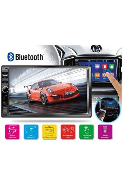 7018b 7 Inc Double Oto Teyp Bluetooth Usb Sd Kart Mirrorlink Park Kamera Dahil Amfi Çıkışlı