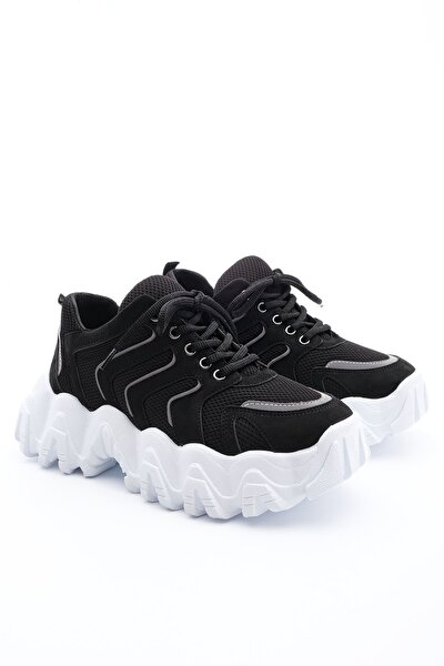 Kadın Siyah Dolgu Topuk Sneaker