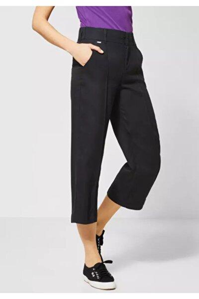 Street One Geniş Bacak Liyosel Kumaş Crop Pantolon