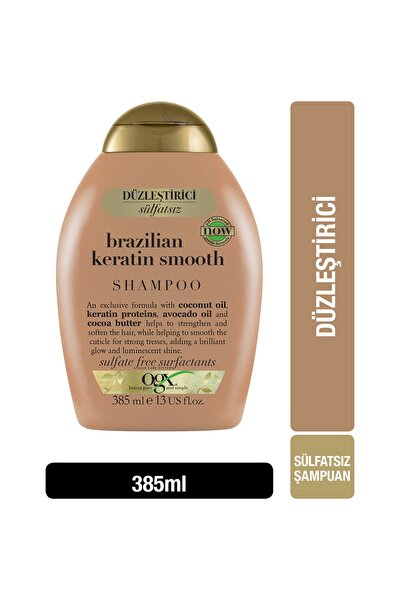 Düzleştirici Brazilian Keratin Smooth Sülfatsız Şampuan 385 ml