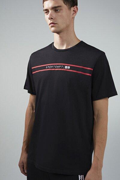St Baskı Detaylı T-shirt
