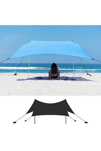 Mavi  Gölgelik Tente Plaj Şemsiyesi