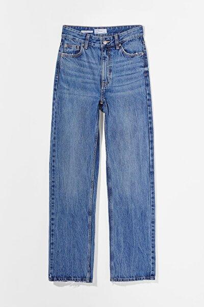 Straight Fit Yüksek Bel Jean