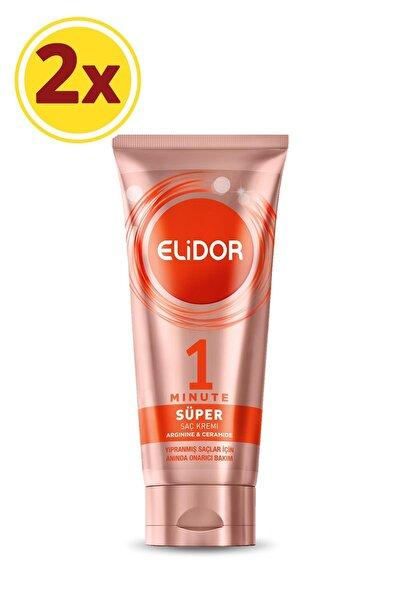 1 Minute Yıpranmış Saçlar Için Anında Onarıcı Bakım Süper Saç Kremi 170 ml X2