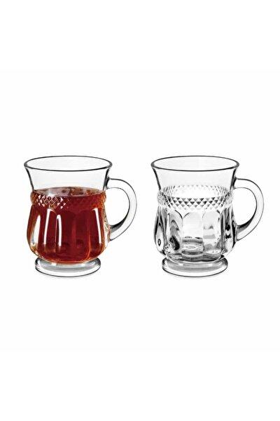 Marea Kulplu 6'lı Cam Çay Bardağı