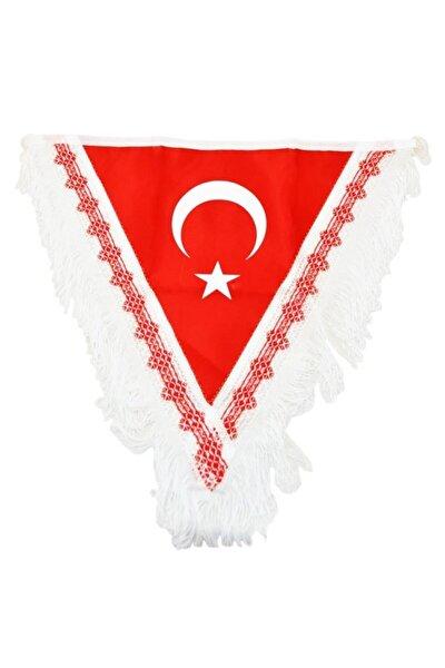 Large 45x40 Cm Flama Türk Bayrağı