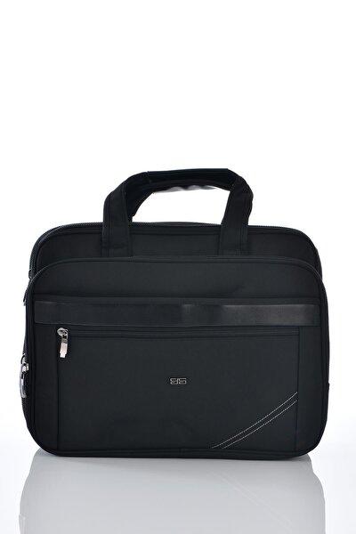 71207 Laptop Bölmeli Körüklü Evrak Çantası Siyah