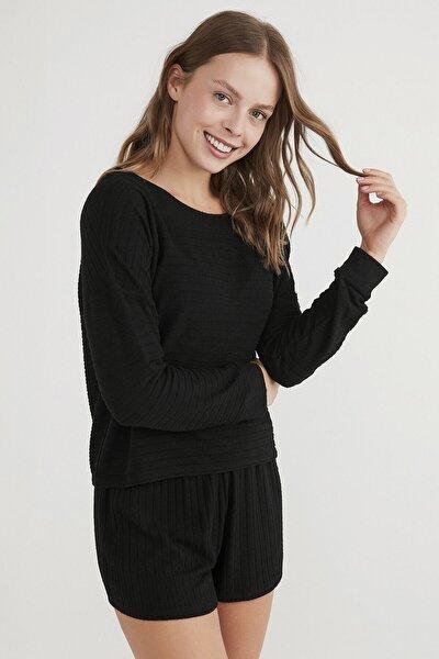 Kadın Siyah Cool Night Sweatshirt