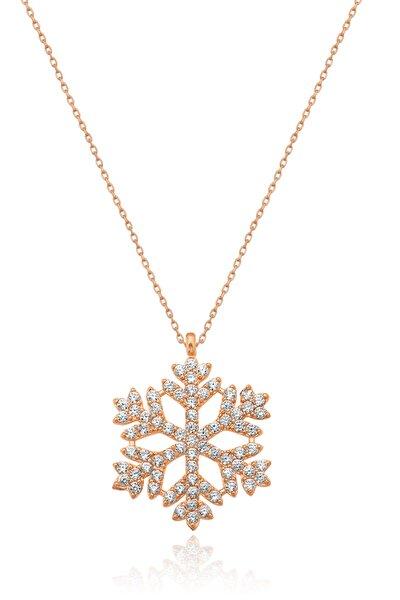 Kartanesi Kolye - Rose Gold Kaplama 925 Ayar Gümüş - Uvps100177