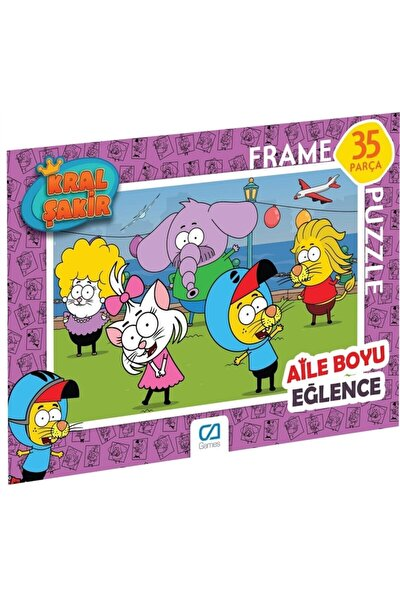 Kral Şakir Frame Puzzle 2 Pembe (35 Parça)